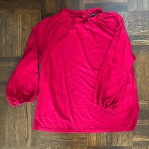 Adrianna Papell Red Blouse